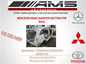 MERCEDES BENZ QUARTER SECTIONS FOR SALE