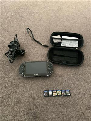 Sony Ps Vita game console in good condition 8gb memory card