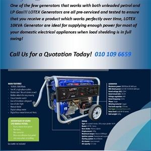 Lotex 10Kva Dual Fuel Generator