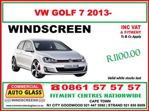 Golf 7 WIndscreen Special - Commercial Auto Glass N1 City