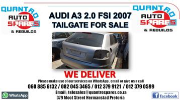 Audi A3 2.0 tfsi tailgate for sale