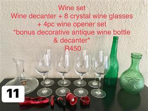 Wine set for sale