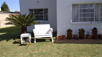 2 x Wooden Outdoor Benches and 2 x Tables
