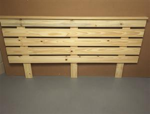 Headboard Cottage series Queen size extended width Raw