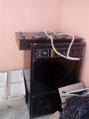 Gemini oven with stove top