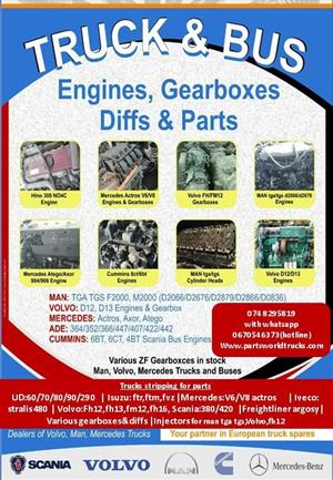 TRUCK AND BUS ENGINES / GEARBOXES / DIFF AND PARTS