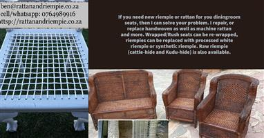 Repairs to rattan and riempie furniture