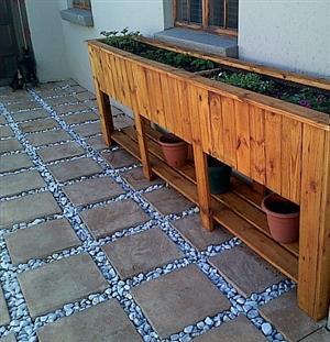 Planter box Shenaz series 3000 with shelf Treated