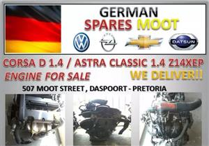 OPEL CORSA D 1.4 (Z14XEP) ENGINE FOR SALE