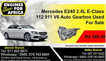 Mercedes E240 2.4L E-Class 112 911 V6 Auto Gearbox Used For Sale.