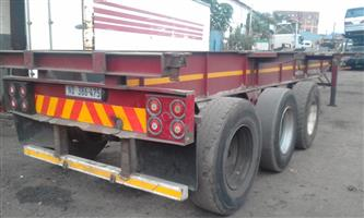 Tri axel trailer completely restored