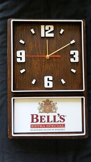 Bell's Scotch Whisky Box Clock. Design 2. Brand New Product.
