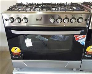 Totai 5 burner gas stove with electric oven