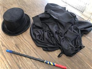 Magicians kit for a junior - Abracadabra! - Cloak, top hat and wand!