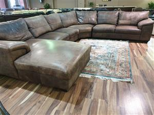 Coricraft 100% Genuine Exotic Leather corner lounge suite R 32500