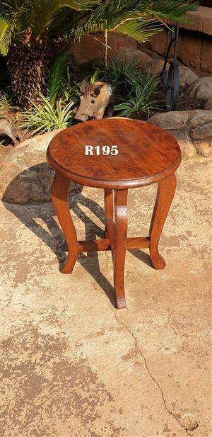 Burmese Teak Side Table No 1 (D 340 H 455)