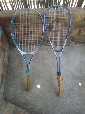 Dunlop quash racket and tennis racket just needs new grips . R100.