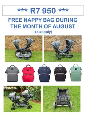 Second Hand ABC Zoom Twin with Joie Car Seats - FREE Nappy Bag