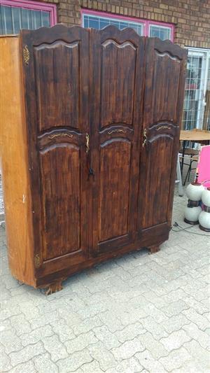 Antique 3 door wooden closet