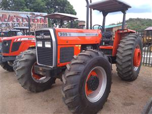 Red Massey Ferguson (MF) 399 74kW/100Hp 4x4 Pre-Owned Tractor