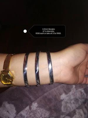 Silver bangles for sale