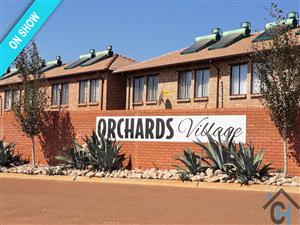 Beautiful 3 bedroom brick-façade townhouses available in orchards village, orchards, Pretoria North