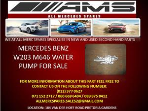 MERCEDES BENZ W203 M 646 WATER PUMP FOR SALE