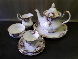 34 piece Royal Albert Tea Set