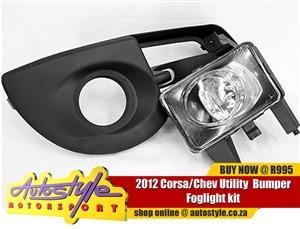 Corsa Chev Utility 2012 Bumper Foglight kit - includes all wirings, switch and bumper grill - sold as a pair, left and right