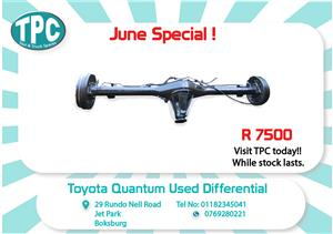 Toyota Quantum Used Diff for Sale at TPC