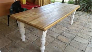 3m x 1m X 50mm thick Solid Oregon Pine Table