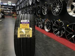 17 inch tyres tire 225-45-17 Achilles brand new