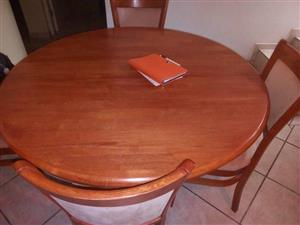 Dining room set, table and 6 chairs, coffee table