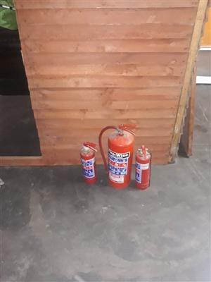 3x fire extinguishers