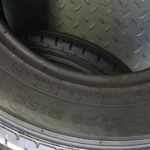 195/70/14C x 2 tyres of the same brand.. continental. 85 percent threads no plug or patch inside
