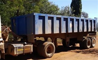Henred Fruehauf Copelyn 30 ton End Tip Trailer to rent R7000p/m
