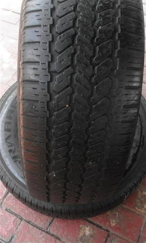 2xGeneral Graber tyres 265/70/16 60% thread