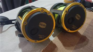 2 x Penn Squall 50Ld and rods