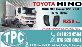 Toyota Hino MCR Bumper Cnr 83-00 - New - Quality Replacement Truck Body Spare Parts.