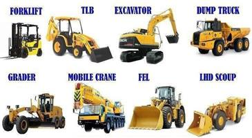 Earth movers machinery. CRANES. EXACAVATORS. and all machinery  training