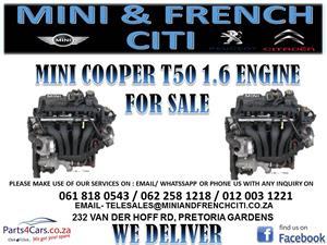 MINI COOPER T50 1.6 ENGINE FOR SALE