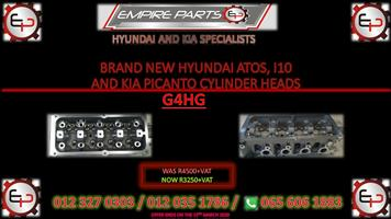 BRAND NEW HYUNDAI ATOS, I10 AND KIA PICANTO CYLINDER HEADS (G4HG)