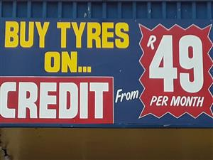 Buy tyres on credit