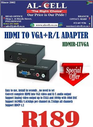 HDMI To VGA+R/L Adapter