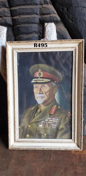 Vintage Framed Picture of General Smuts (330 x 475)