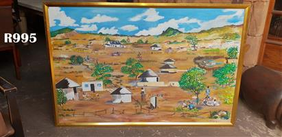 Original 1998 Levy Mohlopi Painting (1525x1015)