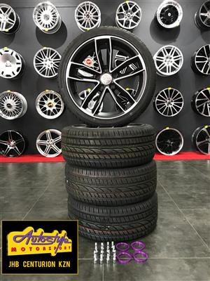 18 inch 5-112 PCD mag and tyre combo CT1208 EVO