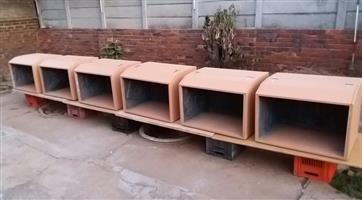 6 New Reptile tanks will be finished soon. R1200 each.