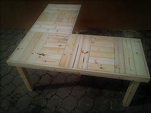 Study desk Farmhouse series 1700 L Shape - Raw