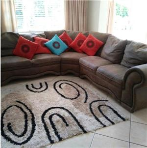Brown corner couch for sale